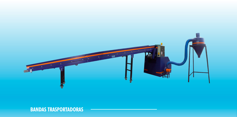 Bandas transportadoras horizontales y verticales, adecuan a cada necesidad y capacidad.